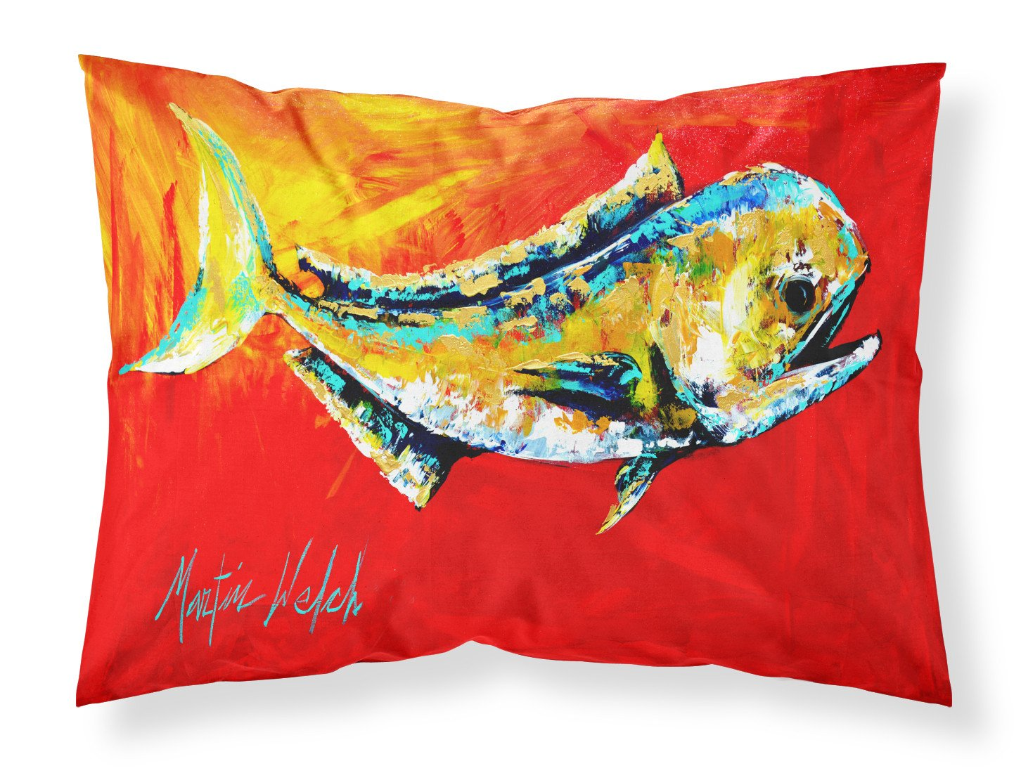Danny Dolphin Fish Moisture wicking Fabric standard pillowcase by Caroline's Treasures