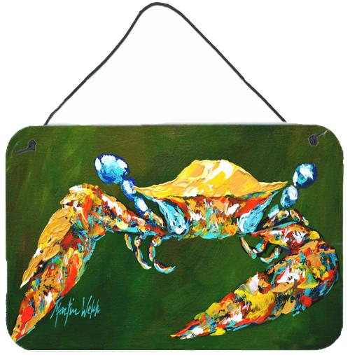 Buy this Go Green Crab Aluminium Metal Wall or Door Hanging Prints