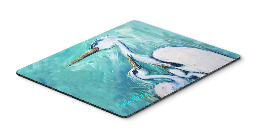 Buy this Mother's Love White Crane Mouse Pad, Hot Pad or Trivet MW1159MP