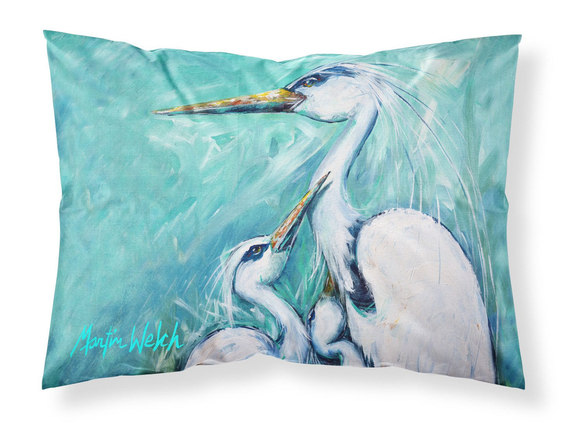 Buy this Mother's Love White Crane Moisture wicking Fabric standard pillowcase MW1159PILLOWCASE