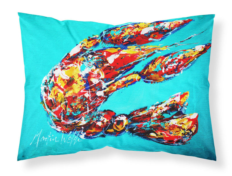 Buy this Lucy the Crawfish in blue Moisture wicking Fabric standard pillowcase MW1161PILLOWCASE