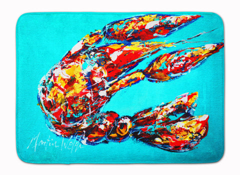 Buy this Lucy the Crawfish in blue Machine Washable Memory Foam Mat MW1161RUG