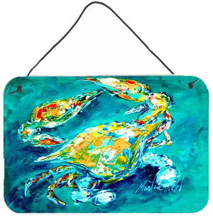 Buy this By Chance Crab in Aqua blue Wall or Door Hanging Prints MW1162DS812