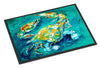 By Chance Crab in Aqua blue Indoor or Outdoor Mat 24x36 MW1162JMAT - the-store.com