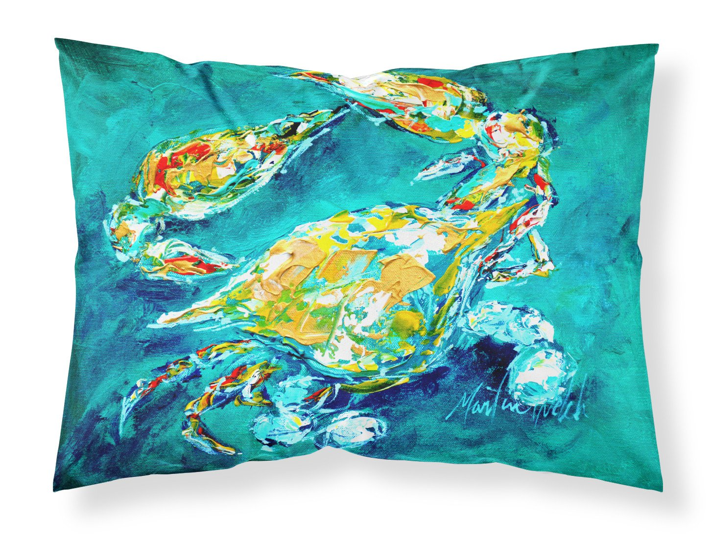 Buy this By Chance Crab in Aqua blue Moisture wicking Fabric standard pillowcase MW1162PILLOWCASE