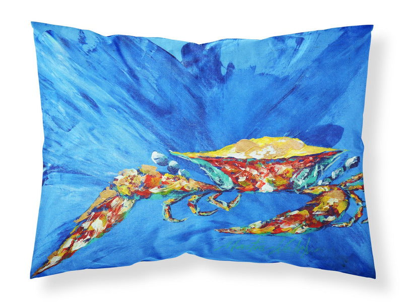 Buy this Big Spash Crab in blue Moisture wicking Fabric standard pillowcase MW1163PILLOWCASE