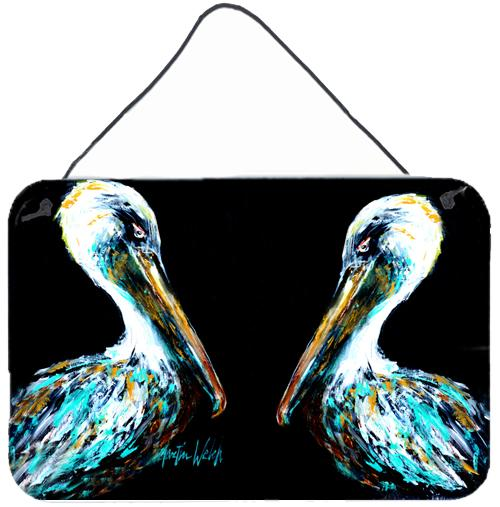Dressed in Black Pelican Wall or Door Hanging Prints by Caroline's Treasures