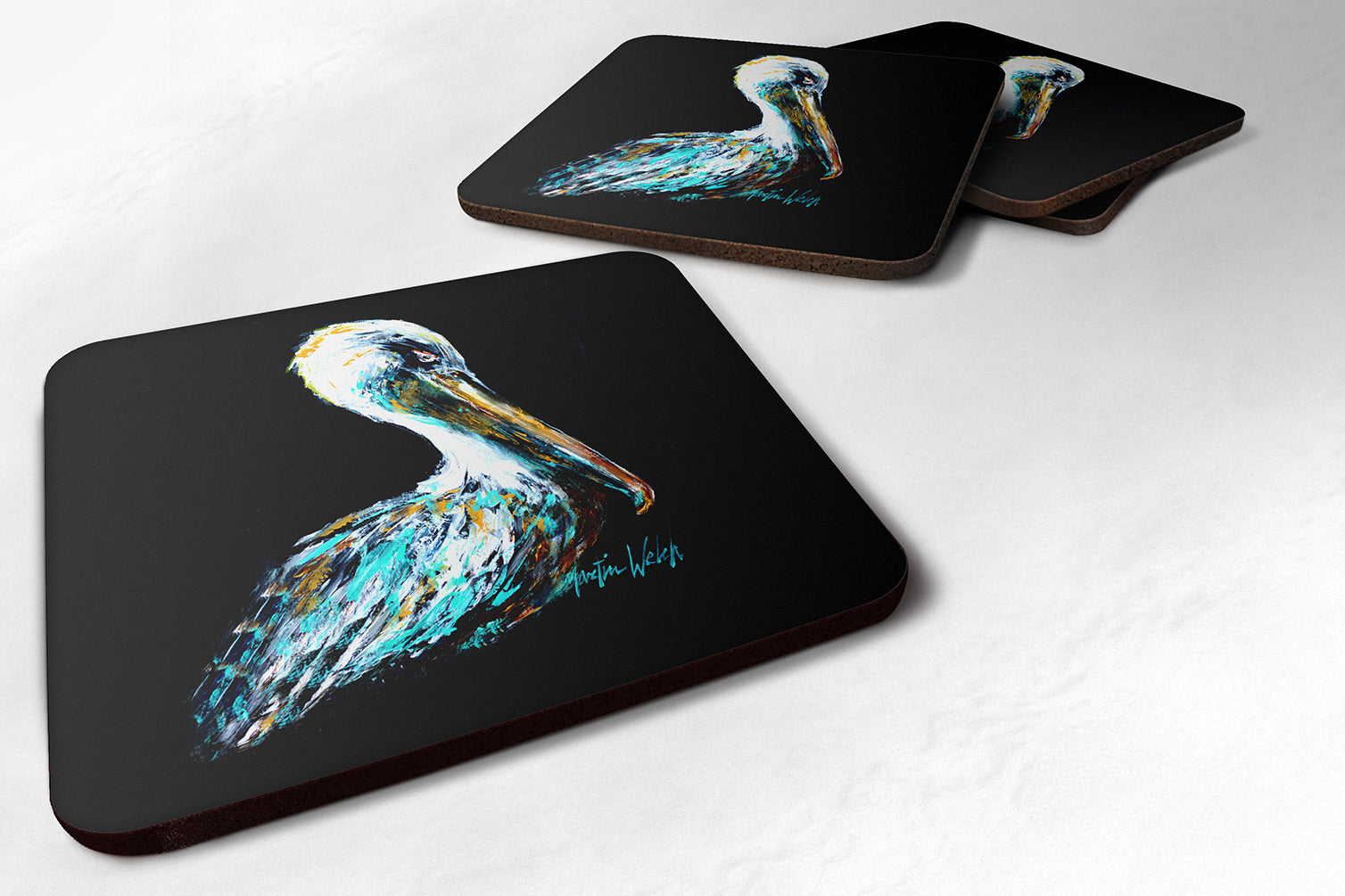 Buy this Dressed in Black Pelican Foam Coaster MW1164FC