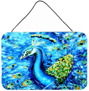 Buy this Peacock Straight Up in Blue Wall or Door Hanging Prints