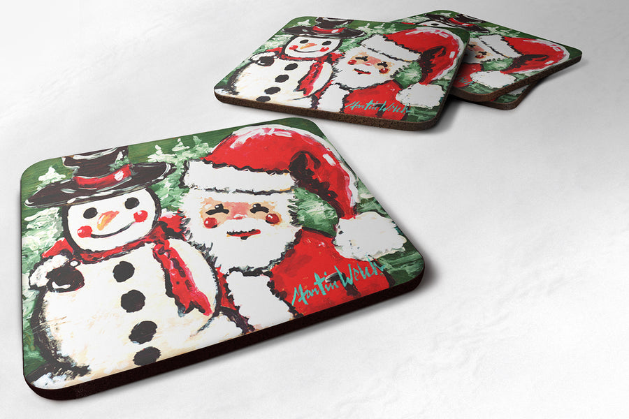 Buy this Friends Snowman and Santa Claus Foam Coaster MW1167FC