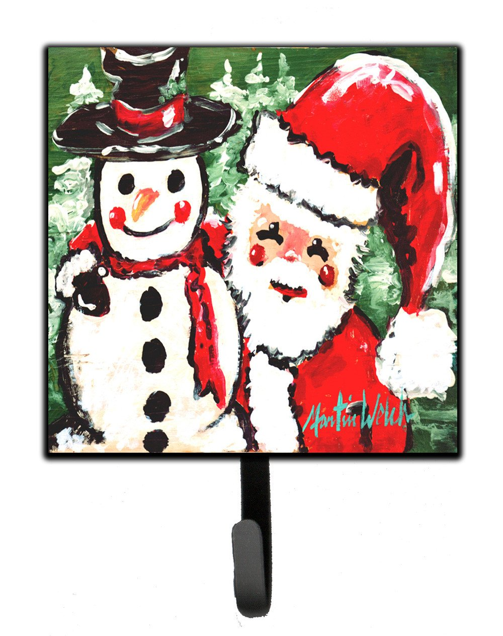 Friends Snowman and Santa Claus Leash or Key Holder MW1167SH4 by Caroline's Treasures