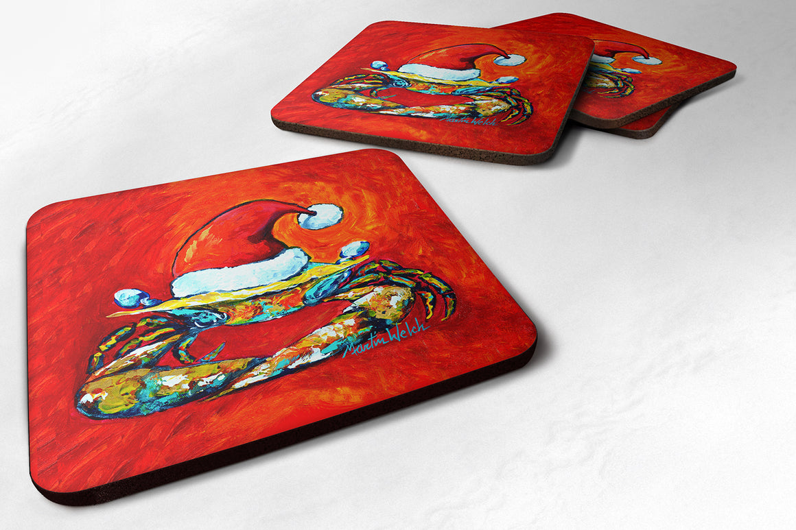 Buy this Crab in Santa Hat Santa Claws Foam Coaster MW1169FC