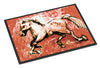 Shadow the Horse in Red Indoor or Outdoor Mat 24x36 MW1170JMAT - the-store.com