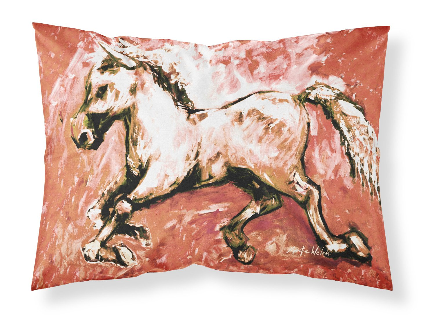 Shadow the Horse in Red Moisture wicking Fabric standard pillowcase MW1170PILLOWCASE by Caroline's Treasures