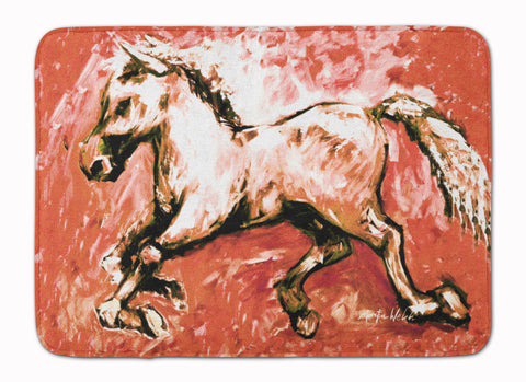Buy this Shadow the Horse in Red Machine Washable Memory Foam Mat MW1170RUG