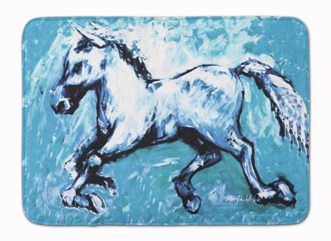 Buy this Shadow the Horse in blue Machine Washable Memory Foam Mat MW1171RUG