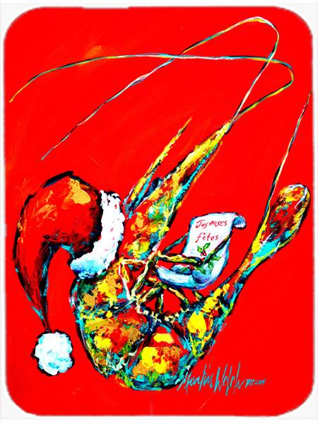 Happy Holidays Shrimp Glass Cutting Board Large MW1197LCB by Caroline's Treasures