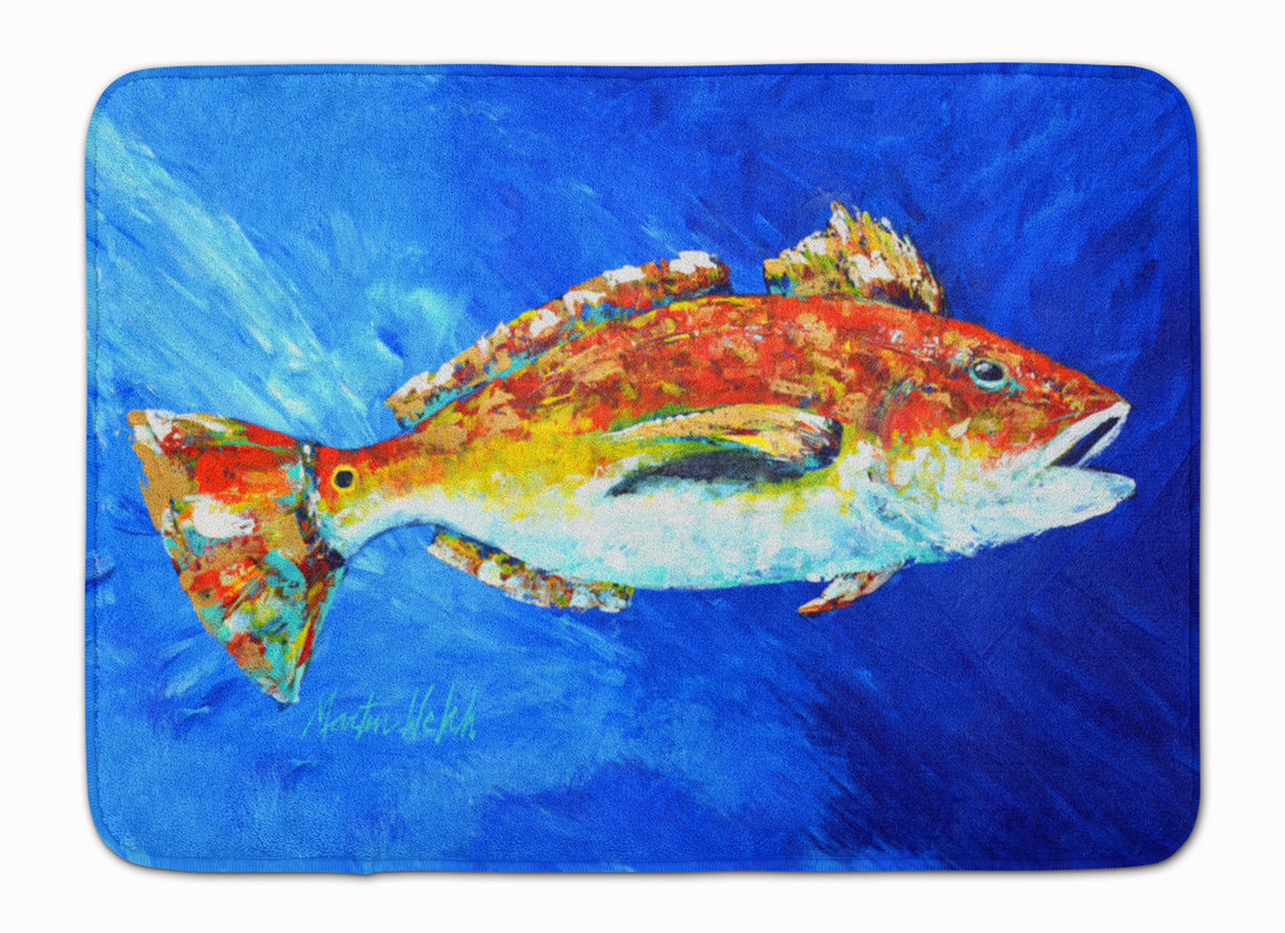 Buy this Red Fish White Spin Machine Washable Memory Foam Mat MW1212RUG