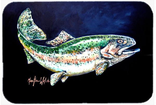 Buy this Deep Blue Rainbow Trout Glass Cutting Board Large MW1213LCB