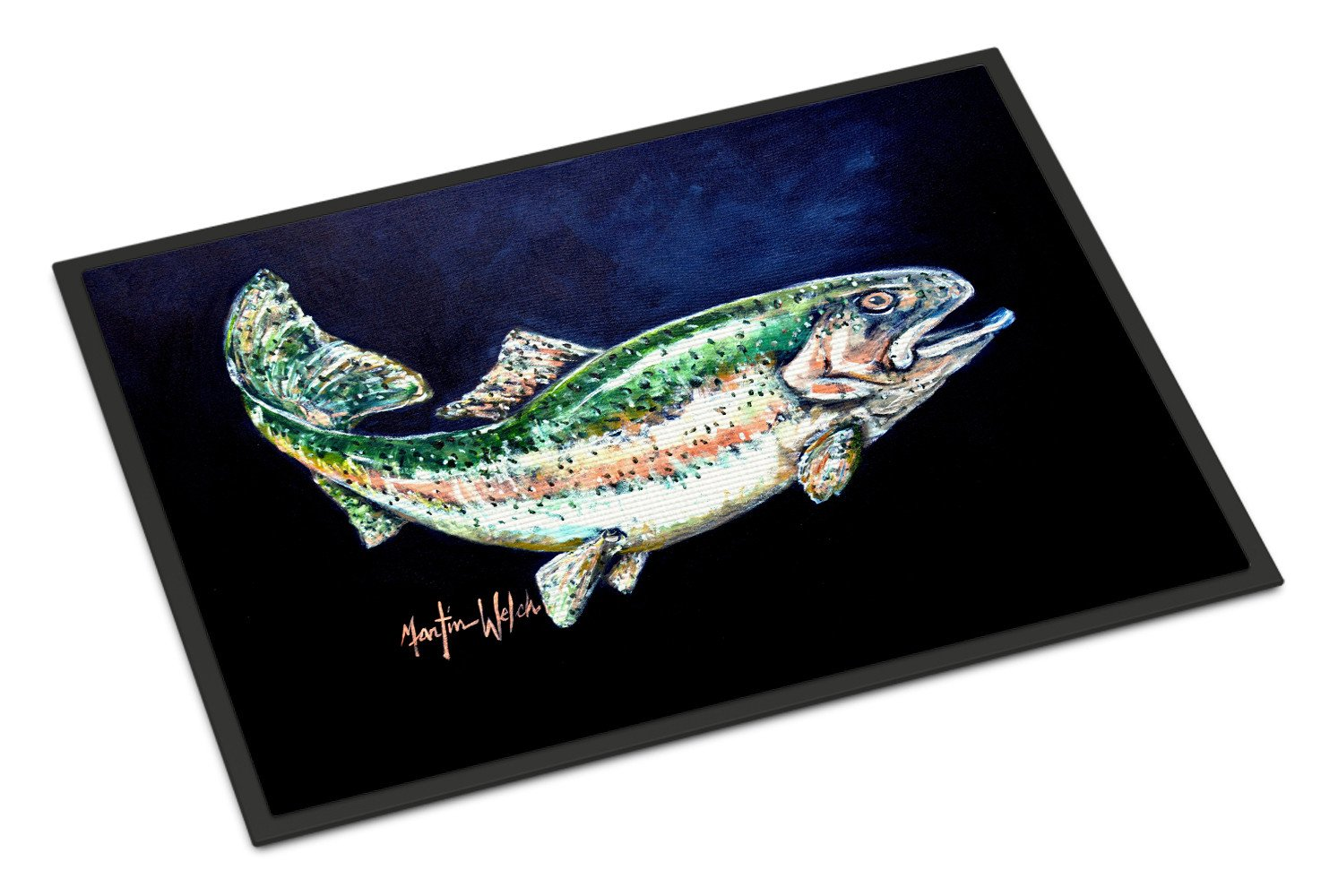 Buy this Deep Blue Rainbow Trout Indoor or Outdoor Mat 18x27 MW1213MAT