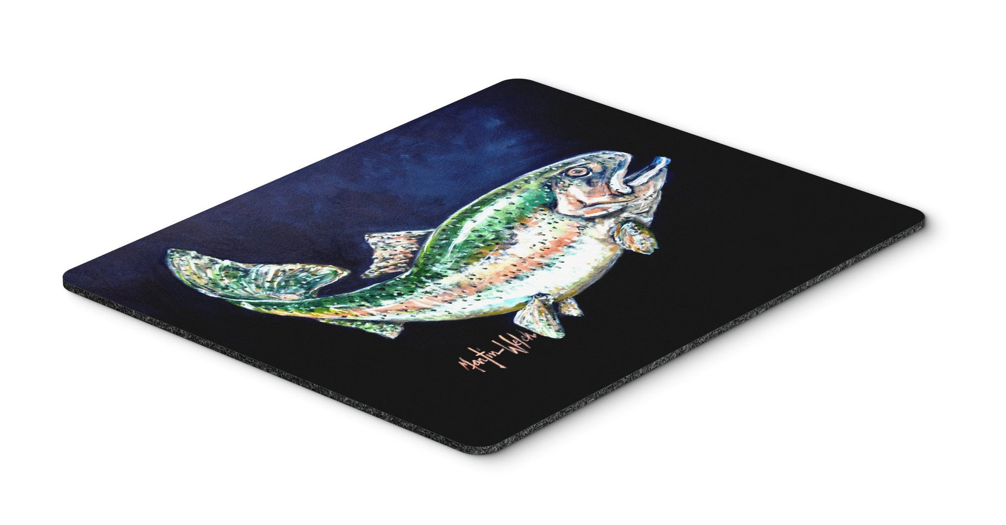 Deep Blue Rainbow Trout Mouse Pad, Hot Pad or Trivet MW1213MP by Caroline's Treasures