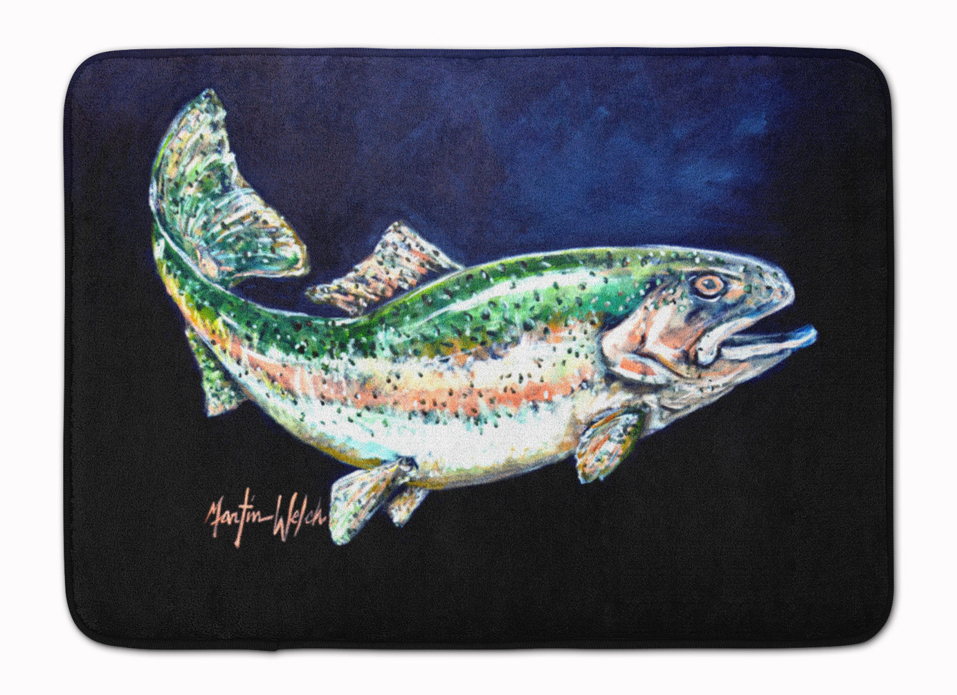 Buy this Deep Blue Rainbow Trout Machine Washable Memory Foam Mat MW1213RUG