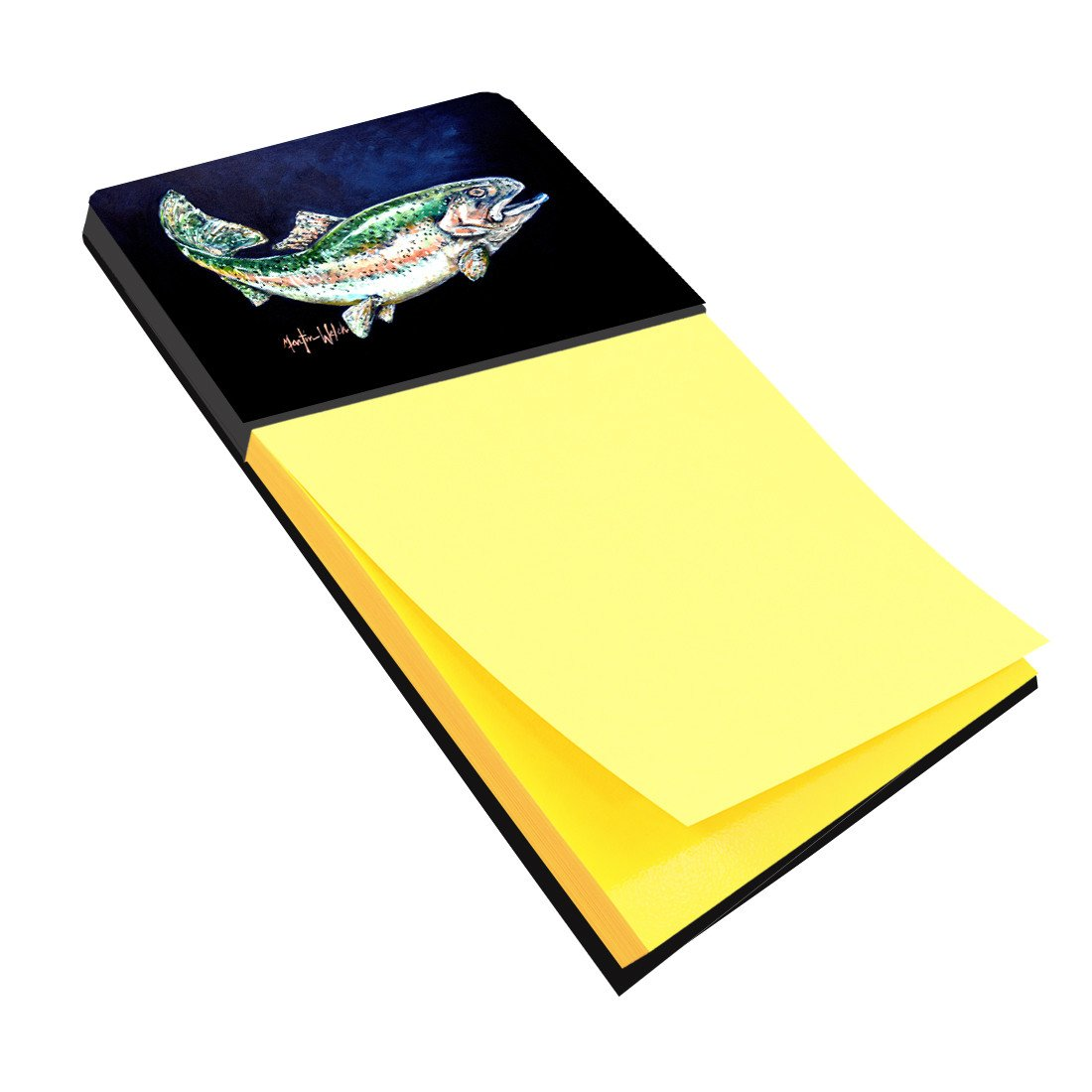 Deep Blue Rainbow Trout Sticky Note Holder MW1213SN by Caroline's Treasures