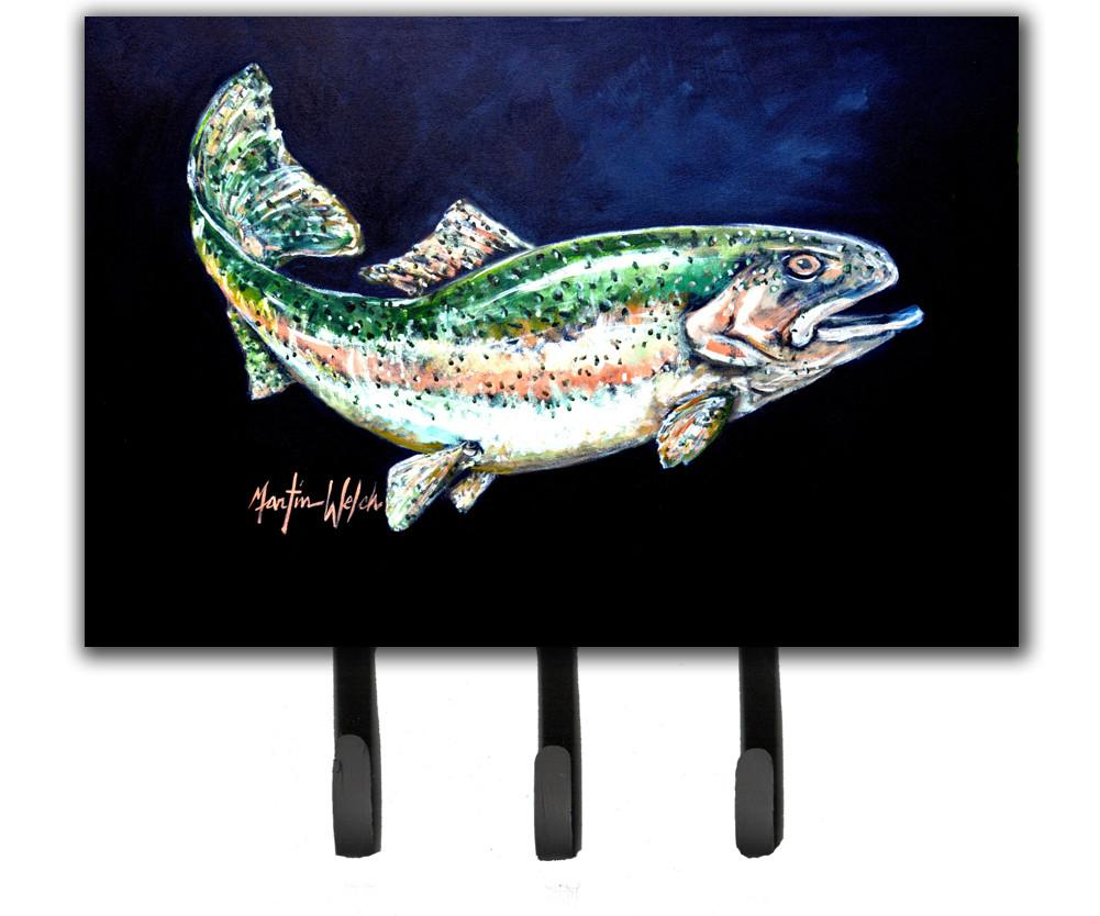 Deep Blue Rainbow Trout Leash or Key Holder MW1213TH68 by Caroline's Treasures
