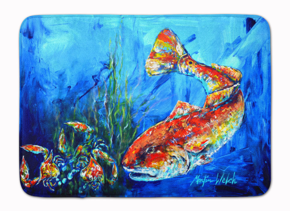 Buy this Scattered Red Fish Machine Washable Memory Foam Mat MW1214RUG