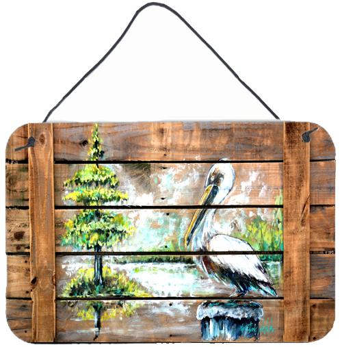 Buy this Summer by the Lake White Pelican Wall or Door Hanging Prints MW1215DS812