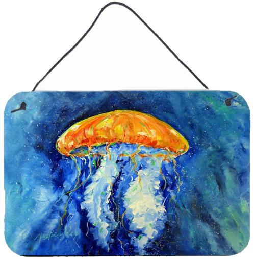 Calm Water Jellyfish Wall or Door Hanging Prints MW1223DS812 by Caroline's Treasures