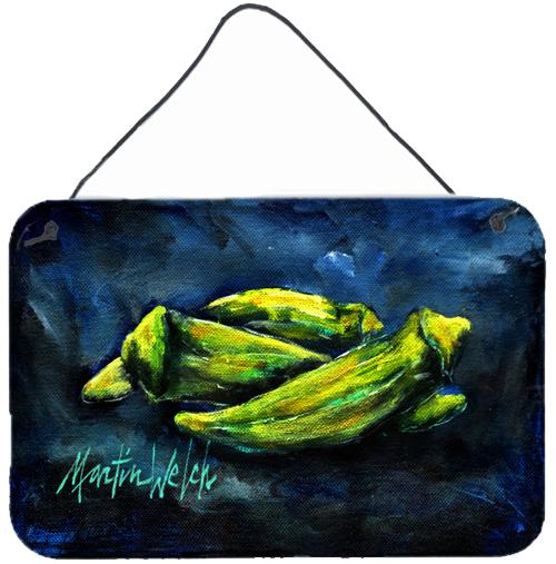 Okra Bleu Wall or Door Hanging Prints MW1229DS812 by Caroline's Treasures