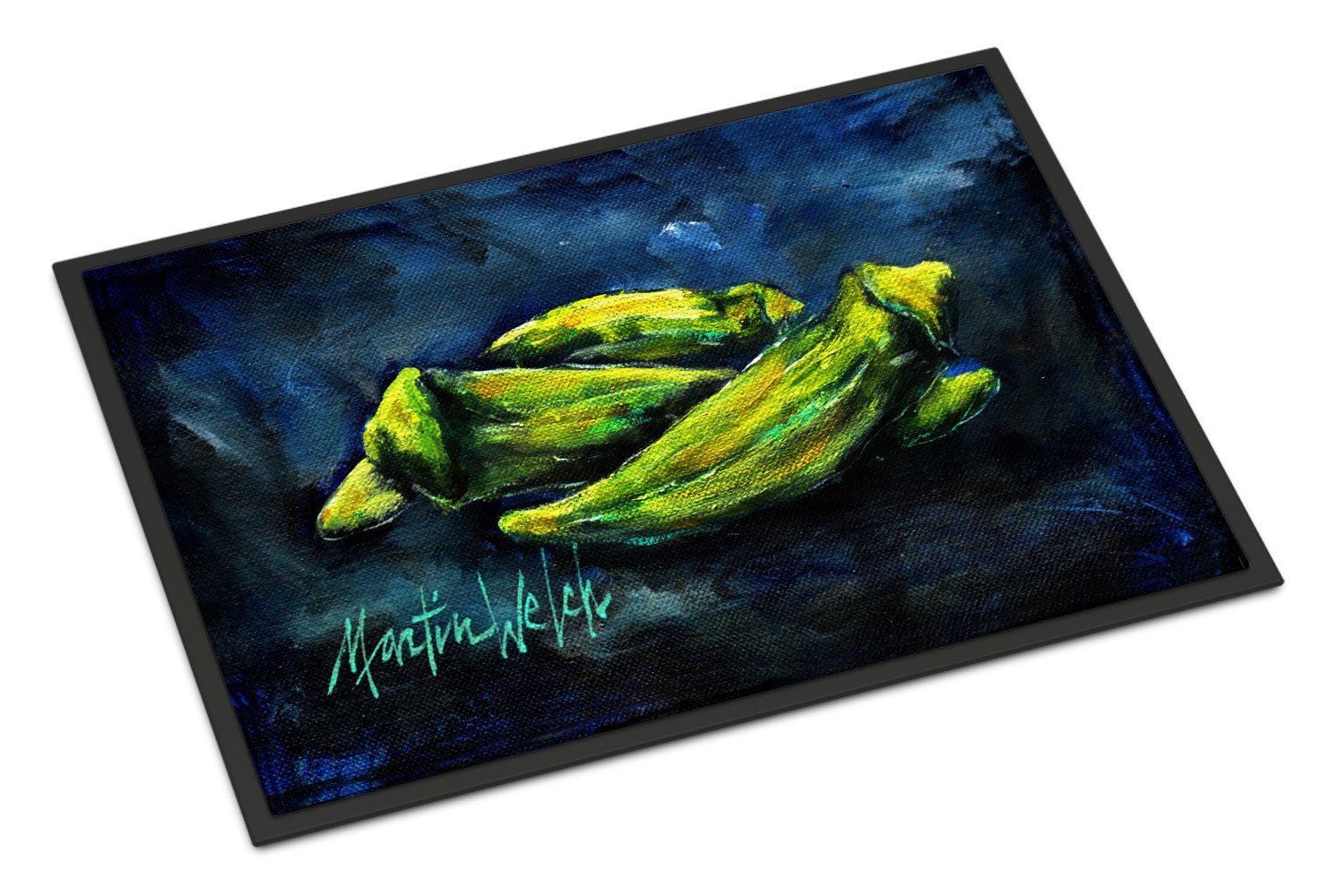 Okra Bleu Indoor or Outdoor Mat 24x36 MW1229JMAT by Caroline's Treasures