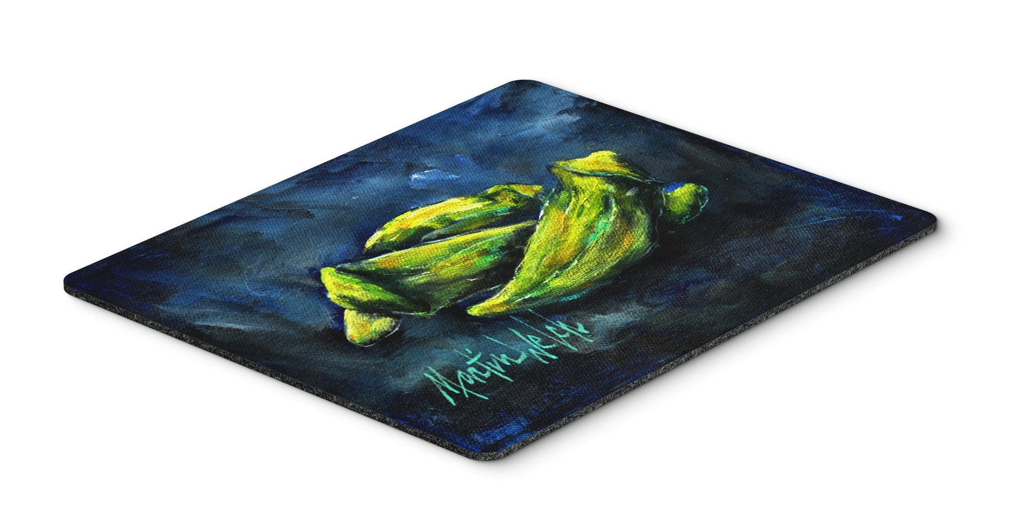 Okra Bleu Mouse Pad, Hot Pad or Trivet MW1229MP by Caroline's Treasures