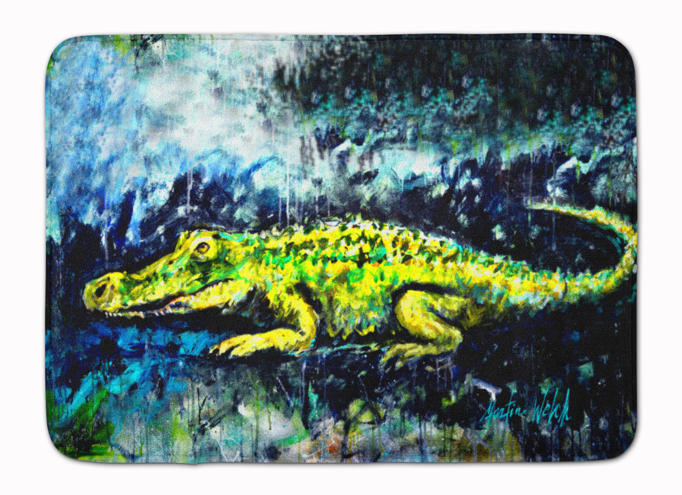 Buy this Sneaky Alligator Machine Washable Memory Foam Mat MW1233RUG