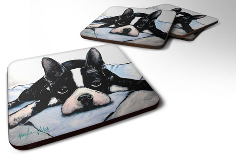 Buy this Boston Terrier Jake Dog Tired Foam Coaster MW1241FC