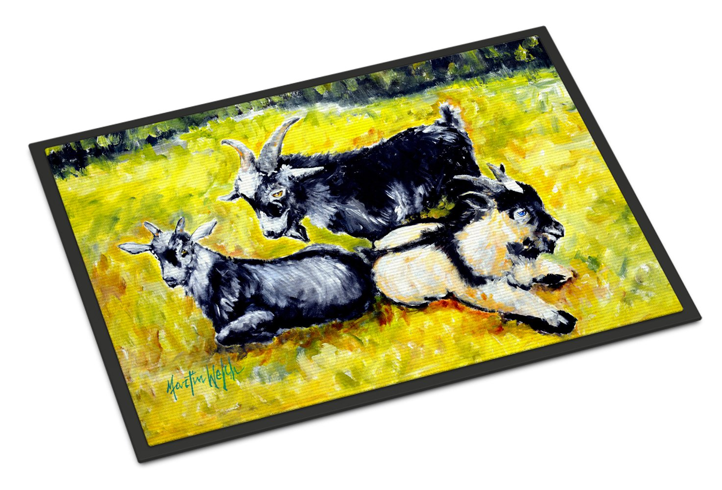 Three Goats Indoor or Outdoor Mat 24x36 MW1266JMAT by Caroline's Treasures