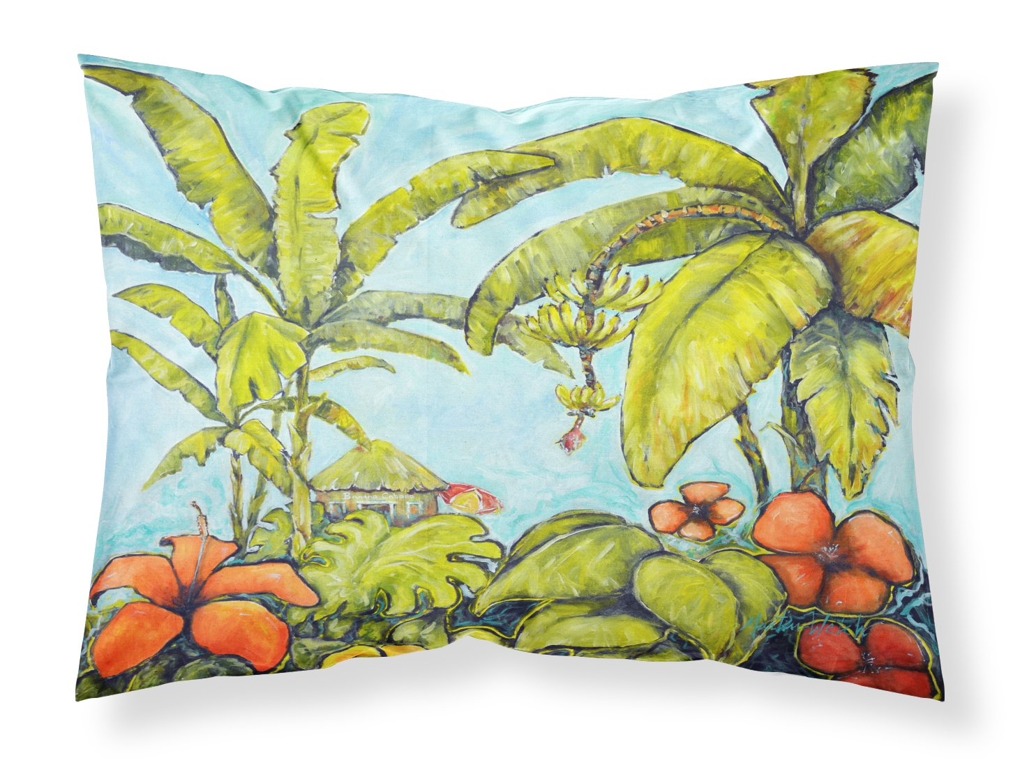 Banana Cabana Fabric Standard Pillowcase MW1268PILLOWCASE by Caroline's Treasures