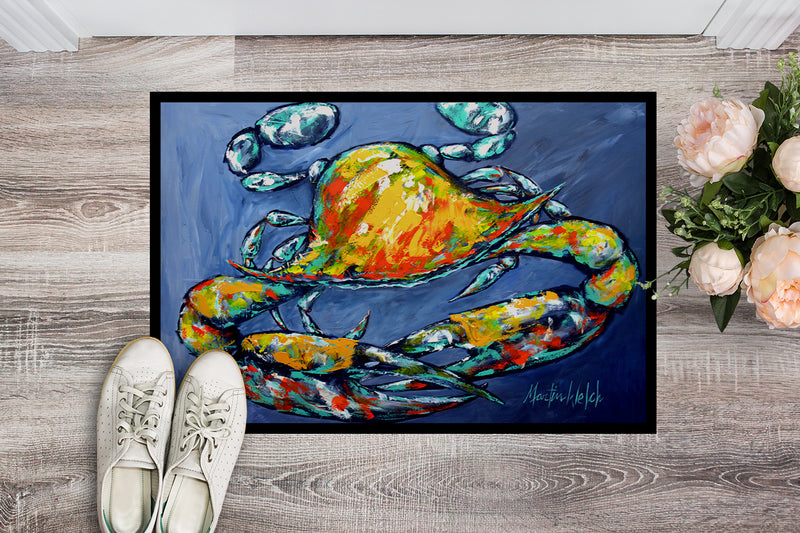 Buy this Blue Gray Kinda Day Crab Indoor or Outdoor Mat 18x27 MW1269MAT