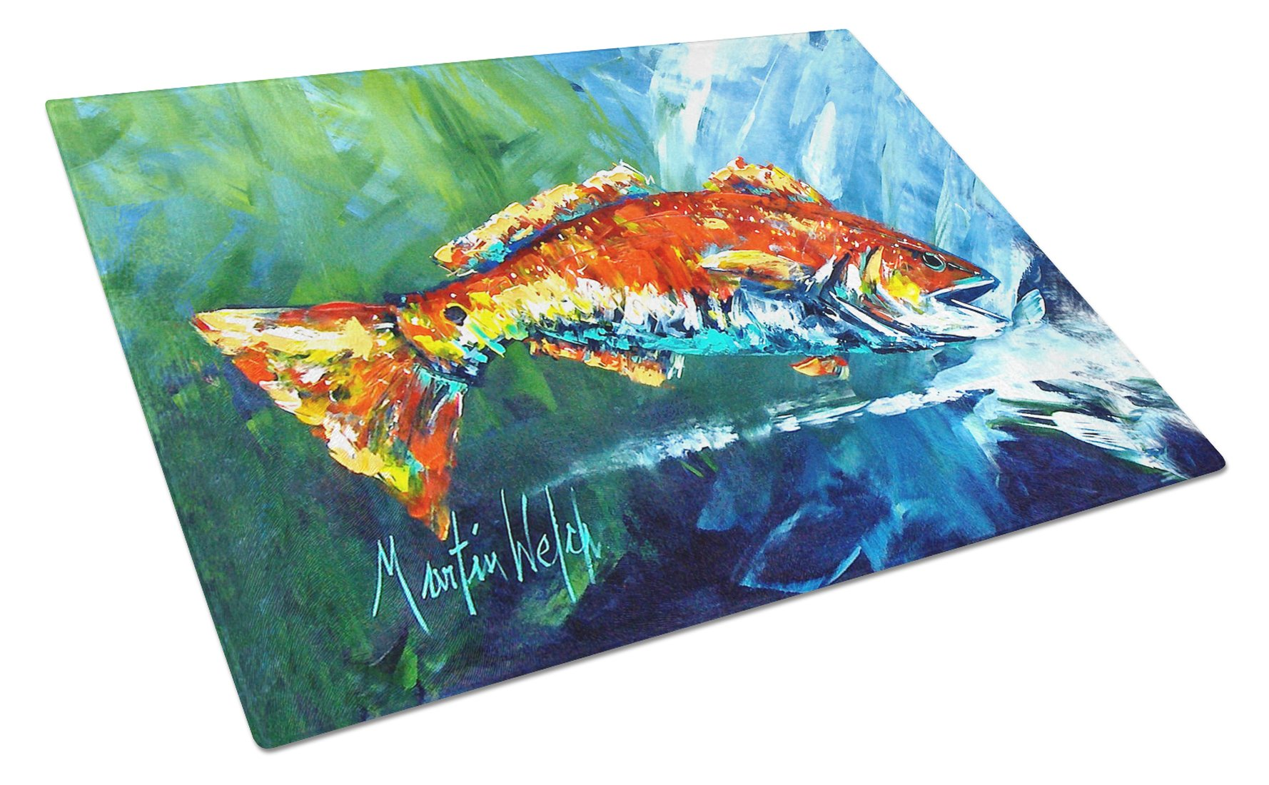 Buy this Break Through Red Fish Glass Cutting Board Large MW1270LCB