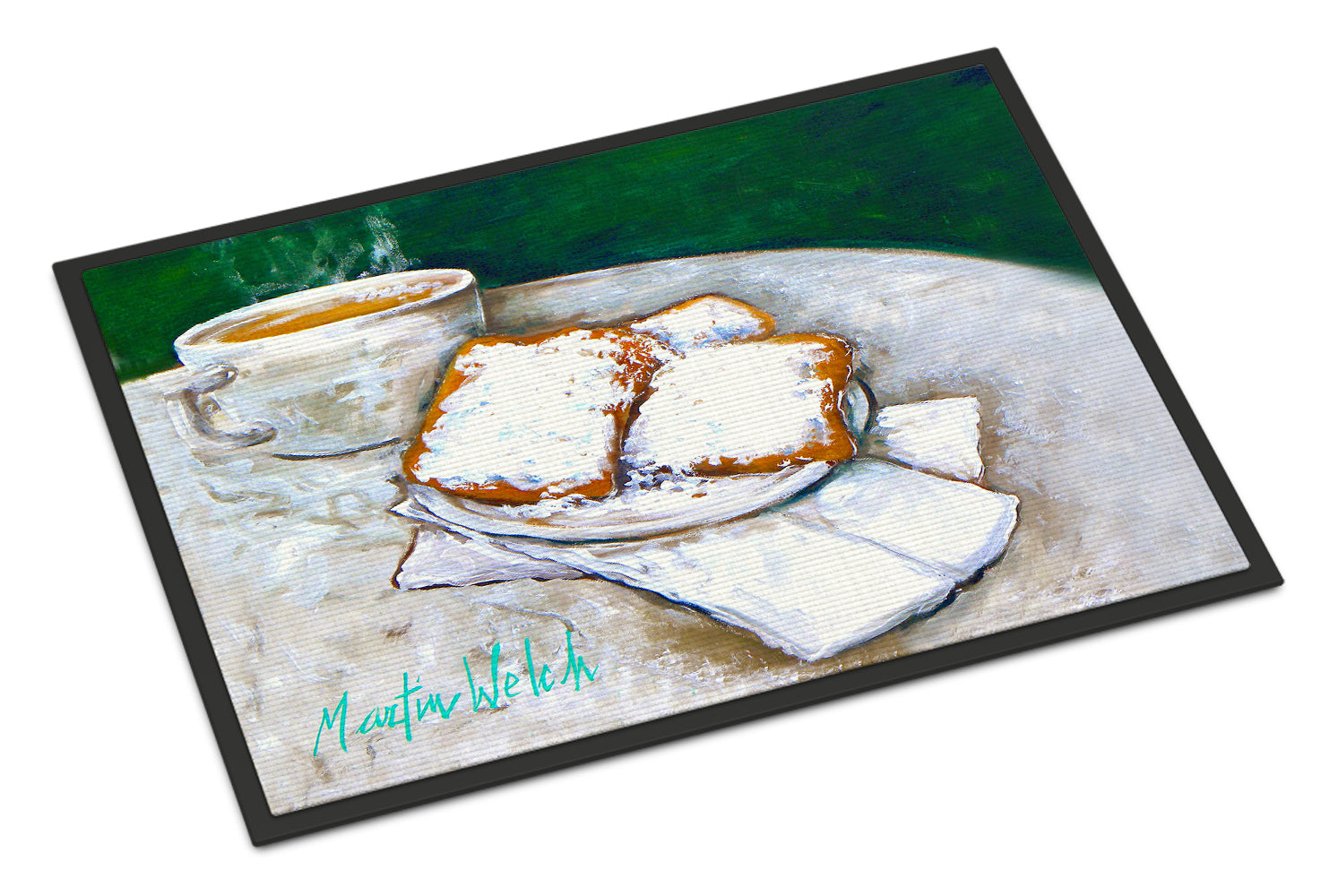 Breakfast Delight Beignets Indoor or Outdoor Mat 18x27 MW1271MAT by Caroline's Treasures