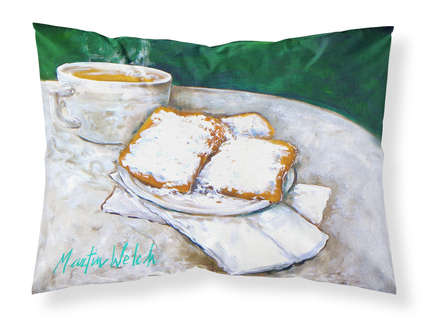 Breakfast Delight Beignets Fabric Standard Pillowcase MW1271PILLOWCASE by Caroline's Treasures
