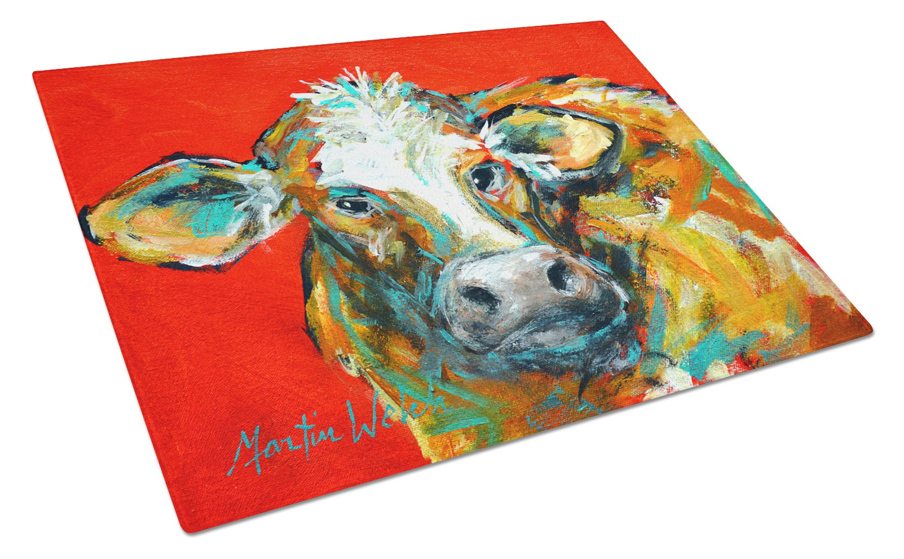 Buy this Caught Red Handed Cow Glass Cutting Board Large MW1272LCB
