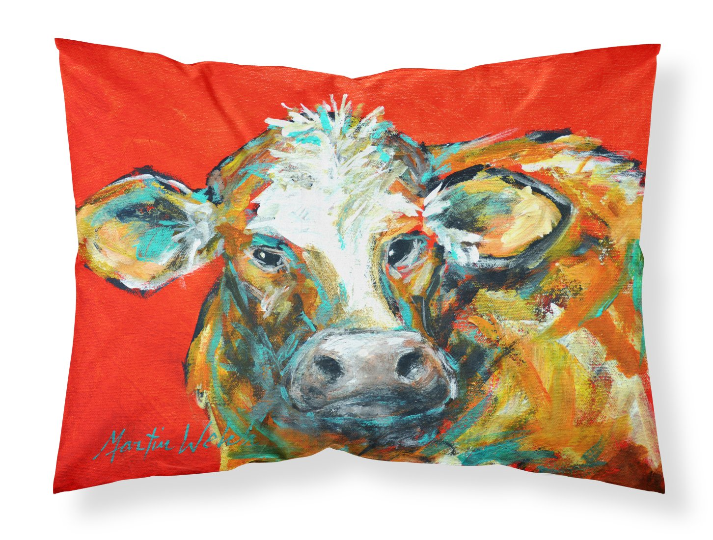 Buy this Caught Red Handed Cow Fabric Standard Pillowcase MW1272PILLOWCASE