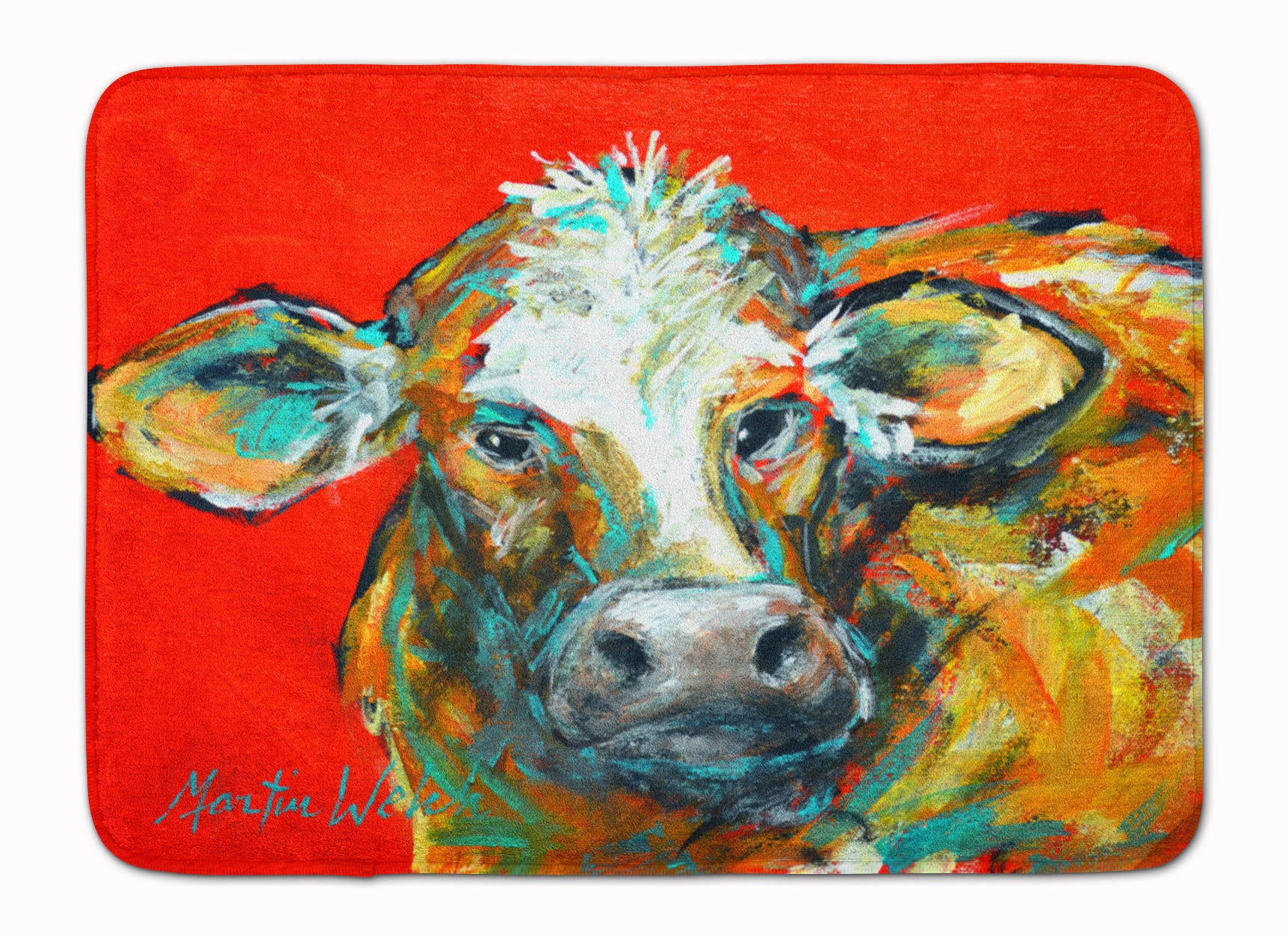 Caught Red Handed Cow Machine Washable Memory Foam Mat MW1272RUG by Caroline's Treasures