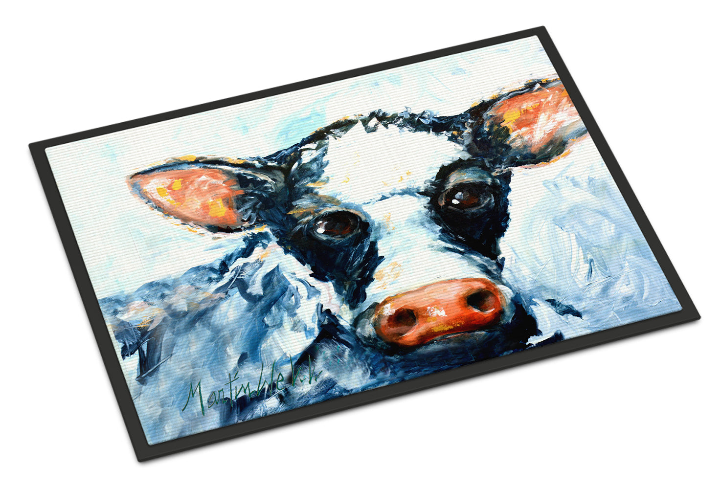 Buy this Cow Lick Black and White Cow Indoor or Outdoor Mat 18x27 MW1273MAT