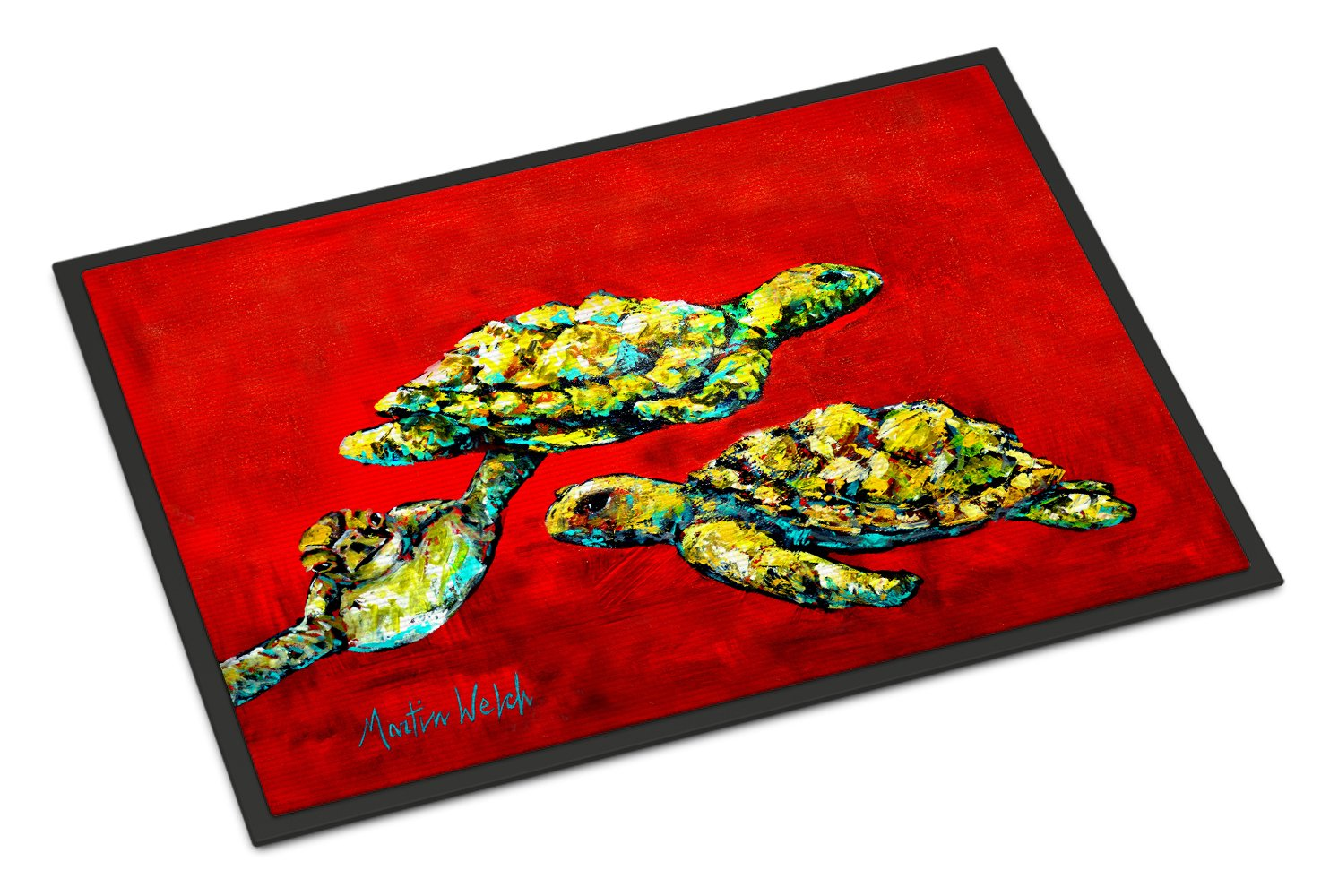 Buy this Drifting Home Turtles Indoor or Outdoor Mat 24x36 MW1274JMAT