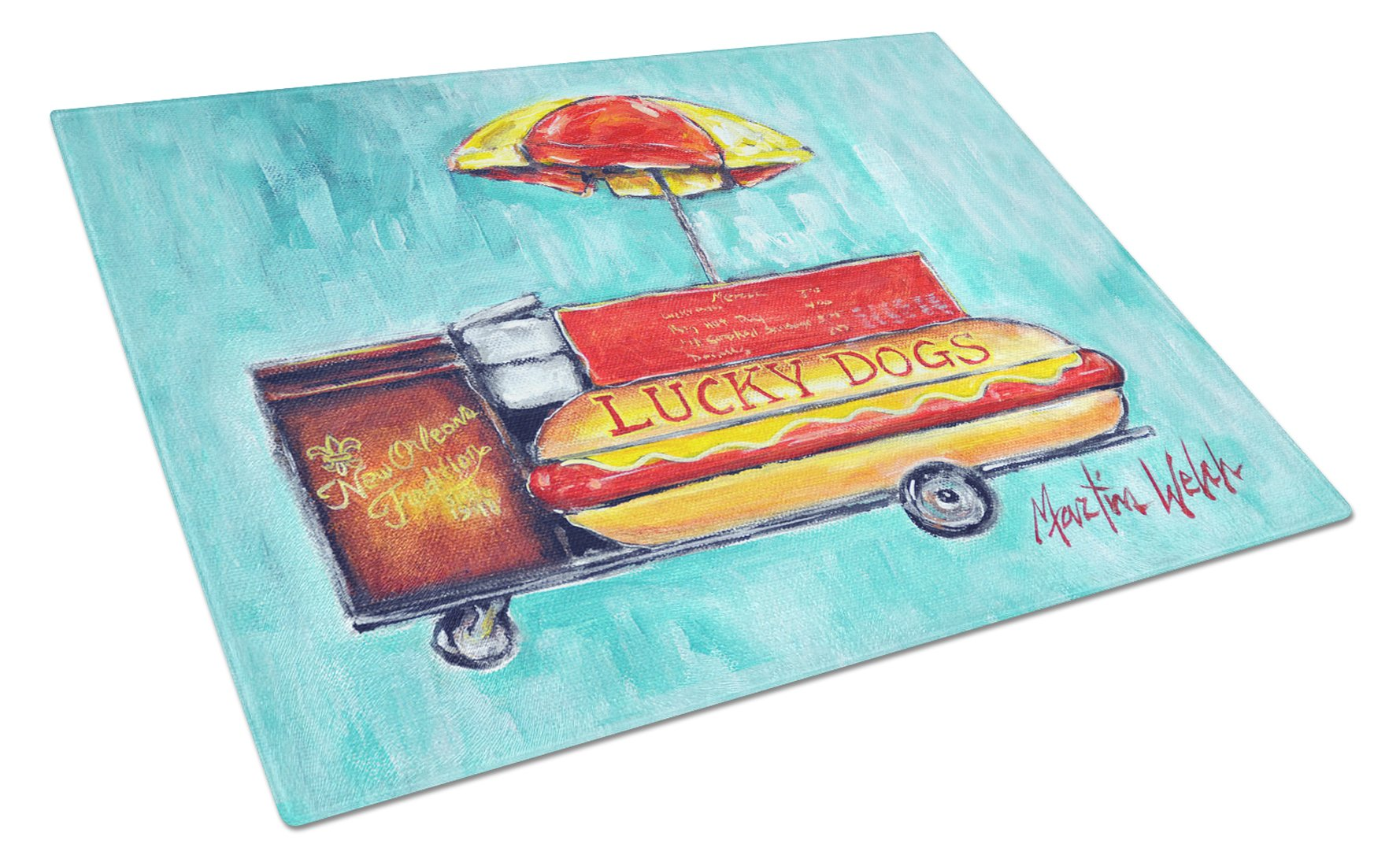 Buy this Lucky Dog for Me Glass Cutting Board Large MW1279LCB
