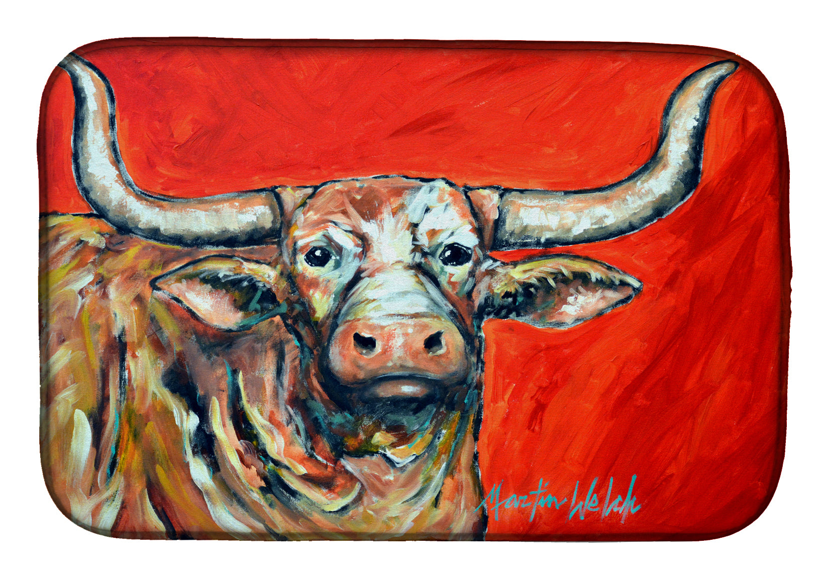 Buy this See Red Longhorn Cow Dish Drying Mat MW1281DDM