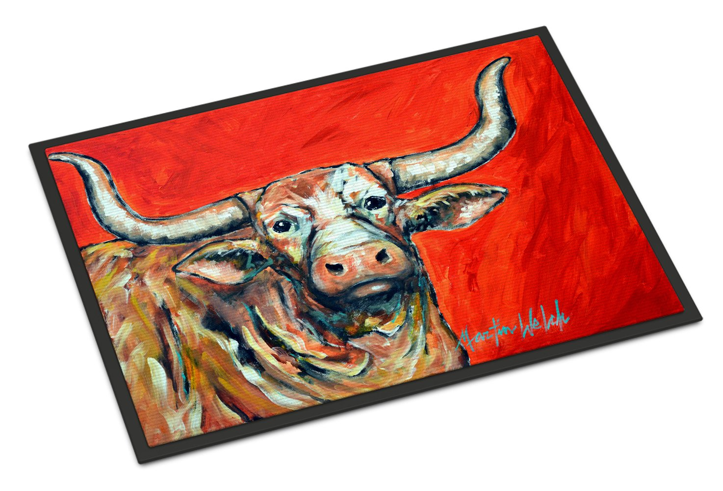 Buy this See Red Longhorn Cow Indoor or Outdoor Mat 24x36 MW1281JMAT